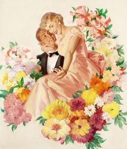 Cashmere Bouquet Soap Advertisement Illustration