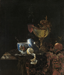 Still Life with a Chinese bowl, a Nautilus Cup and Fruit