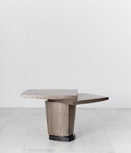 Ledges 1 Bronze Side Table, USA