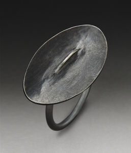 Small Black Oval Ring