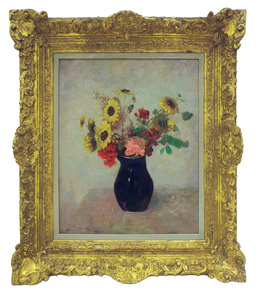Bouquet Au Petit Vase Bleu