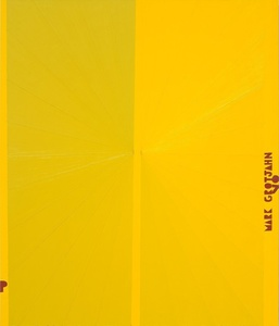Untitled (Yellow Butterfly I Red P MARK GROTJAHN 07 781)