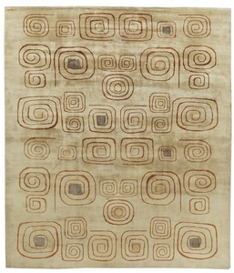 Deco Vintage Rug (Churos) signed by Olga Fisch, BB6076