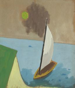 Sailboat, Green Sun