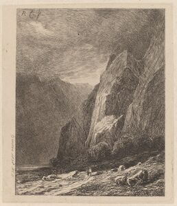 Cliffs in a Storm