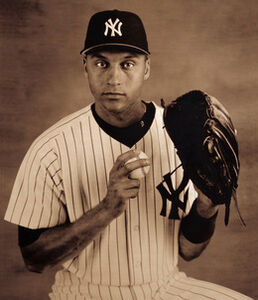 "New York Yankees Shortstop Derek Jeter, from ""The Team that George Built: A Portfolio of the 1998 Yankees"""
