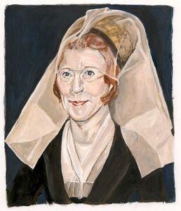After Van Der Weyden: New York Art Patron as a Lady