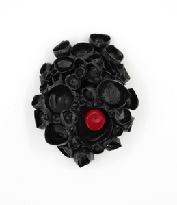 Rubber Sea Flower Cluster Brooch