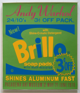 Exhibition Poster for Andy Warhol: Pasadena Art Museum [Brillo] (not in F. & S.)