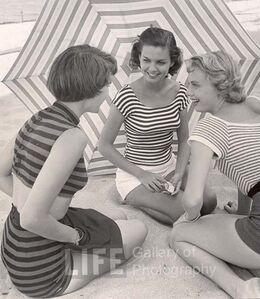 Beach Fashions with Umbrella