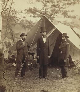 President Lincoln, United States Headquarters, Army of the Potomac, near Antietam
