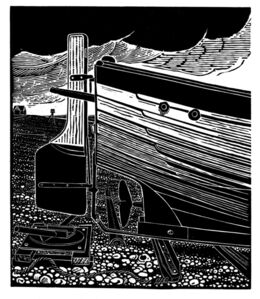 Stern of an Aldeburgh Beach Boat