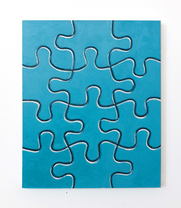 Untitled (blue puzzle)