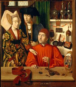 A Goldsmith (Saint Eligius?) in His Shop