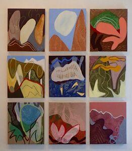 Birdcalls, 9 separate panels