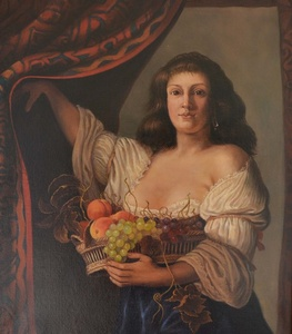 Woman with Basket and Fruit (Couwenburgh)