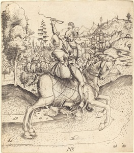 Knight and Lady on Horseback