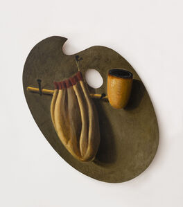 Artist's Palette with Pipe and Pouch