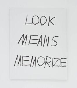 LOOK MEANS MEMORIZE