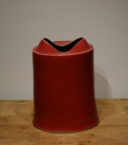Small Medium Tall Red/Orange Vessel