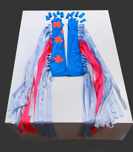 Ribbon Gloves in Pink and Blue