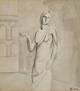 Figura femminile e architettura