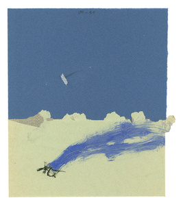 Untitled (Landscape with flying object)