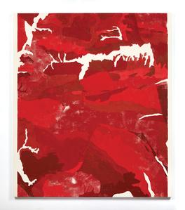 Red Ukiyo-e Paintng