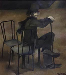 Man sitting with a hat