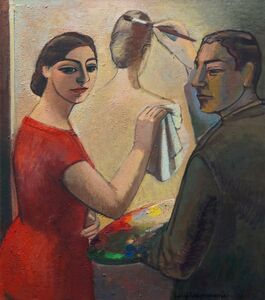 Painter and a Paintress - in memory of R. Magritte
