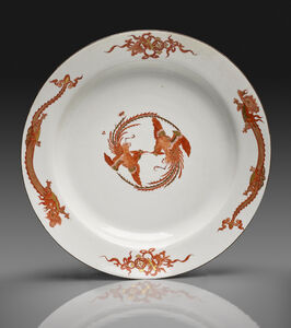 "Large Dish from the ""Red Dragon"" Service"