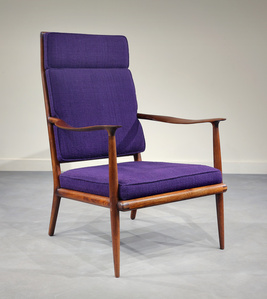 EARLY, CLASSIC ARMCHAIR BY SAM MALOOF