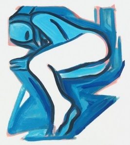 Study for Blue Nude #3