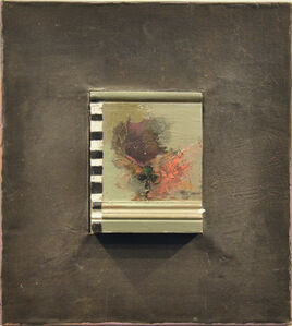 Untitled (Lead Framed Painting with Moulding) 2