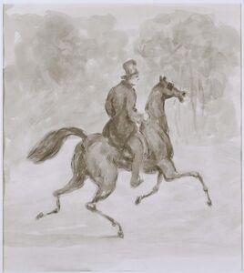 Man on Trotting Horse