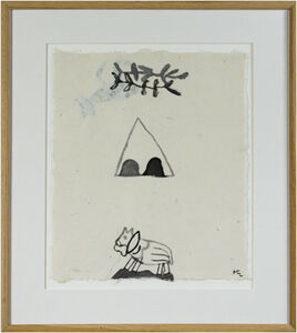 Horse in Desert w/Teepee & Branches (2nd Image on Reverse)