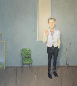 Interior com Pessoa Sorrindo