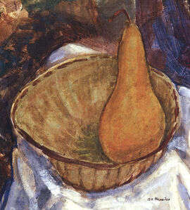 Bowl with Pear: Still Life