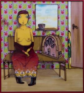La Mujer que escucha la Radio Desnuda