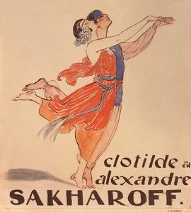 Clotilde et Alexandre Sakharoff - Original Artwork - Dancing
