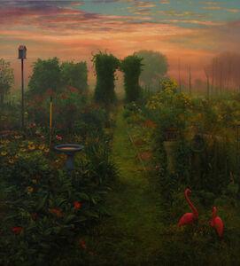 Path in Garden at Sunrise