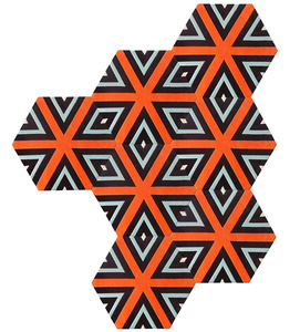 Cubist Deconstructed Hexagon