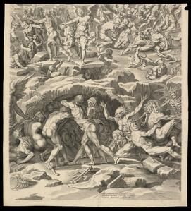 Iudic˜ uniuersalis paradigma Sacrae Scripturae testimonijs confirmatum : detail of Resurrection