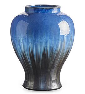 Large vase, Chinese Blue and gunmetal flambé glaze, Flemington, NJ