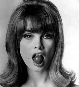 Jean Shrimpton with Radish