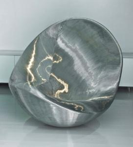 Thumbprint stainless steel