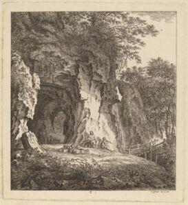 Two Shepherds in a Rocky Landscape