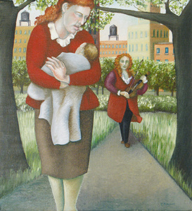 Self Portrait with Two Redheads (My Mother and Vivaldi)