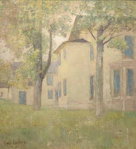 House with Blue Shutters