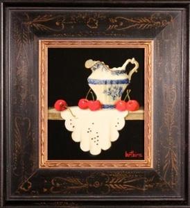Touraine Creamer, Cherries and Cloth